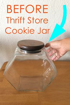 home decor Upcycling home decor Vintage Thrift Store Cookie . - home decor Upcycling home decor Vintage Thrift Store Cookie Jar gets a nice new - Vintage Thrift Stores, Thrift Store Crafts, Thrift Store Finds, Goodwill Finds, Thrift Store Furniture, Thrift Store Decorating, Flea Market Crafts, Thrift Store Refashion, Thrift Store Shopping