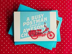 A Busy Postman - Christmas Cards - The Hungry Workshop Portfolio - The Loop