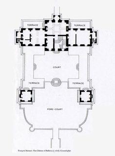 Chateau de Balleroy, ground floor plan.