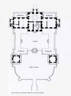 Chateau de Balleroy, ground floor plan.