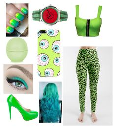 """""""neon green"""" by asutherland ❤ liked on Polyvore"""