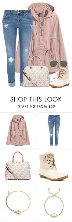 """""""please please please read description!!!"""" by kaley-ii ❤ liked on Polyvore featuring River Island, MICHAEL Michael Kors, Sperry, Alex and Ani, Kendra Scott and Ray-Ban"""