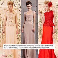Tips: Long Dresses for Short-Waisted Women ← Paris Ciel - EN