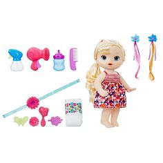 Baby Alive Blonde Cute Hairstyles Baby by Hasbro For Hot Christmas Gift 630509520183 Muñeca Baby Alive, Baby Alive Dolls, Baby Girl Toys, Toys For Girls, Baby Shower Themes, Baby Shower Gifts, Ri Happy, Doll Carrier, Baby Doll Accessories