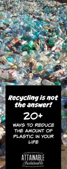 20+ easy ways to reduce plastic in your home for greener living. #recycle #environment