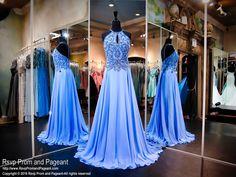 Periwinkle Chiffon Prom Dress