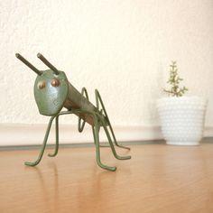 Railroad Spike Grasshopper Vintage Handmade by nellsvintagehouse, $15.00