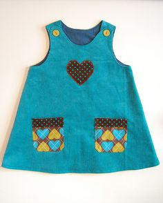 Girl's Dress - make for M with old corduroy dress