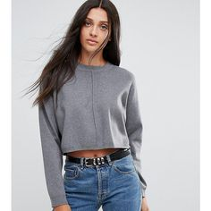 9ba7b68a77 ASOS TALL Jumper in Boxy Crop (€14) ❤ liked on Polyvore featuring tops