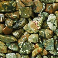 Rhyolite, a.k.a. Rainforest Jasper, is a benevolent stone of peace and healing. This restorative jasper brightens the mood, heals the body, and opens the heart. A great choice for children, pets, and