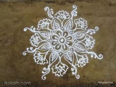 An usual kolam drawn in front of my house, posting for your views and suggestions.