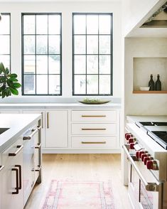 I thought I wanted white windows and then I see pictures like this with the black and become completely indecisive...because this kitchen…