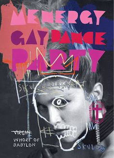 Gregor Laird - Mutate Design: Menergy Madonna vs Basquiat flyer