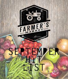 Farmers Market Shopping List For September