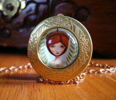 Marisol Spoon - Paintings, Prints, and Adornments - Acorn Queen Locket