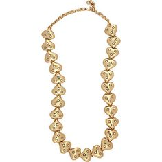 gold heart and diamante short necklace - necklaces / collars - jewellery - women - River Island