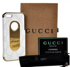 New Arrival Real Gucci Canvas iPhone 6 Cases - iPhone 6 Plus Cases - White - Free Shipping - Chanel & Louis Vuitton Authorized Store
