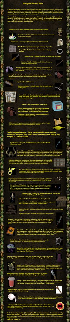 [Suggestion] Minigame Reward Shop! Already passed a poll here are a ton of rewards for it.