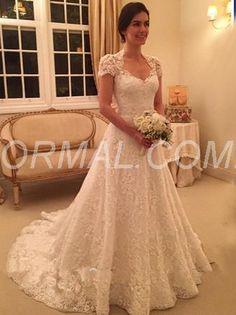 Beformal.com.au SUPPLIES Button A-line Court All Sizes Summer Fall Natural Lace Wedding Dress Wedding Dresses 2016