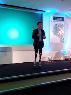 Hugh Herr demos his robotic legs, Economist Technology Frontiers, Old Street, Hackney, London, UK (via Cory Doctorow)