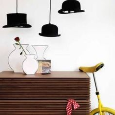 Hat lamps by cindy feng. Now I have to find some cute hats! ;-)