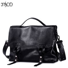 6c0a473bf0809 Men Genuine Leather Briefcase Male Leisure Handbag Fashion Cowhide  Messenger Bags for Men LaptopTravel Tote Bags Top handle Bags-in Briefcases  from Luggage ...