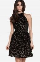 Floral Velvet Fit and Flare Dress