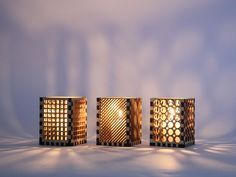 Laser cutting candle holder