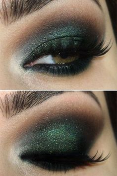 EASY way to get this gorg green smokey eye