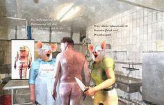 Willkommen auf der Schweinewelt - Hier ist die Evolution anders verlaufen - Die Rollen wurden getauscht - Menschenfleisch ist die wichtigste Nahrungsquelle