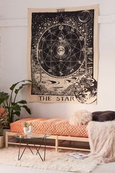 Tapiz Tarot Star Wall Tapestry Wall Hanging Tapestry Tapestry For Dorm Decor Hippie Tapestry room decor Tapestry Tapestries For Living Room Interior Design Tips, Interior Decorating, Cheap Home Decor, Diy Home Decor, Hipster Home Decor, Diy Casa, Plywood Furniture, Furniture Ideas, Dream Furniture