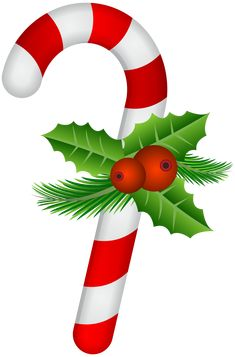 Candy Cane With Holly Transparent Clip Art - Candy Cane Christmas Clip Art PNG - candy cane, aquifoliaceae, candy, cane, christmas Elf Christmas Decorations, Christmas Printables, Christmas Candy, Christmas Crafts, Christmas Ornaments, Christmas Time, Christmas Clipart Free, Christmas Graphics, Candy Cane Story