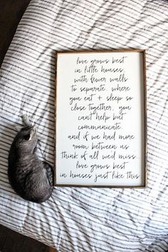 Love Grows Best in Little Houses Sign - Script