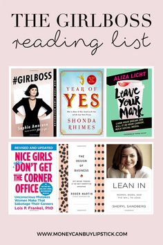 Inspirational books for women and female entrepreneurs. A reading list for the ultimate girlbosses and women in business.
