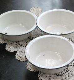 Vintage enamel bowls...I have many of these
