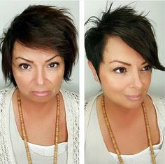 Before   After! Fresh, new #pixie cut by Andres at #ashawoodfield #ashasalonspa