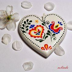 Přívěsek srdce se vzorem z Podluží