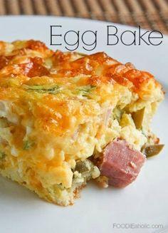 Egg Bake   FOODIEaholic.com #recipe #cooking #brunch #casserole #egg