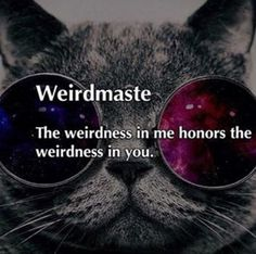 Weirdmaste: The weirdness in me honors the weirdness in you. yoga quote, funny