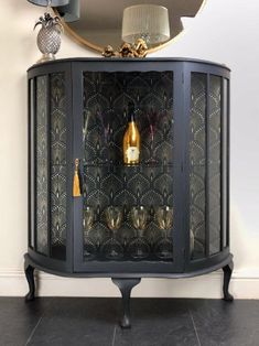 Art Deco Gin Or Cocktail Cabinet A fresh kitchen area renovation can vastly Increase the value of your private home, … Art Deco Bar, Art Deco Glass, Refurbished Furniture, Furniture Makeover, Estilo Art Deco, Art Deco Bedroom, Drinks Cabinet, Art Deco Furniture, Gold Painted Furniture