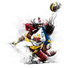 Tomasz Usyk - Illustration for NYT Sports Sunday's front page: The Legend of Jadeveon Clowney and 2013 College Football preview.