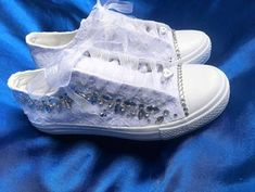 LovinCollection White Wedding Sneakers Bling Bridal Shoes Bride ...