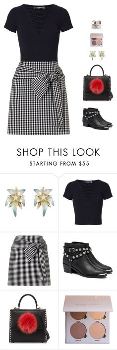 """glam rock"" by candynena228 ❤ liked on Polyvore featuring Alexis Bittar, T By Alexander Wang, Miss Selfridge, Senso, Les Petits Joueurs and Olay"