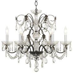 Schonbek Madison Collection Six Light Crystal Chandelier  (50087)