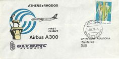 Olympic Airways - 1st Flight AIRBUS A300 ATHENS - RHODOS  ( 1-4-79)