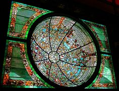 The assumably Tiffany dome from the amazing Driehaus Museum in Chicago!