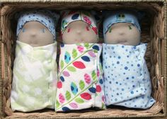 Easy sewing tutorial for our ORIGINAL Waldorf swaddled baby doll. $4.00, via Etsy.