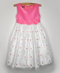 Loving this Pink Daisy Chain Dress - Infant, Toddler & Girls on #zulily! #zulilyfinds