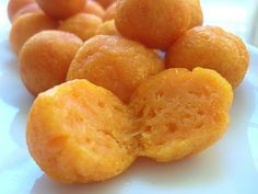 Fried Sweet Potato Balls - delicious way to use up leftover sweet potatoes