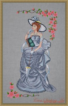 Lady Vivien is the new counted cross stitch design by Cross Stitching Art